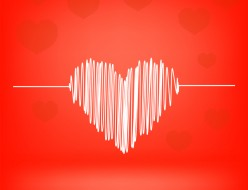 White Heart on Red Background. Heart Icon.